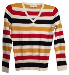 Jones New York Stripe Striped Bold Stripe Color-blocking Sweater