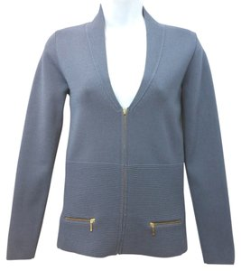 Reiss Stretchy Knit GREY BLUE Jacket