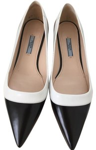 Prada Napa Leather No Longer Made BLACK AND WHITE Flats