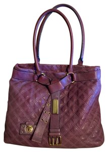 Marc Jacobs Quilted Belt Buckle Tote in Purple