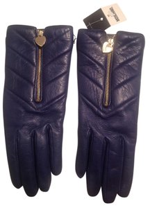Moschino Brand New Moschino Leather and Cashmere Gloves