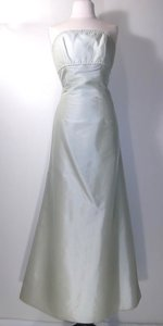 Alexia Designs Light Mint Taffeta Style Number 4000 Modern Bridesmaid/Mob Dress Size 8 (M)