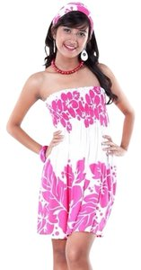 1worldsarong short dress Pink & White on Tradesy
