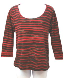 Piazza Sempione Cotton Top RED/BROWN