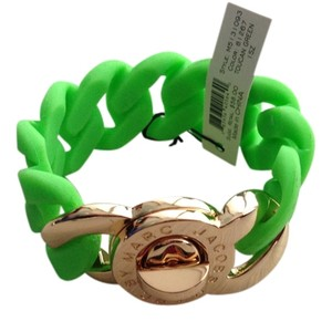 Marc by Marc Jacobs Lime Green rubber chain link bracelet