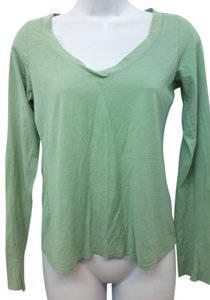 Vince Cotton Blouse T Shirt GREEN