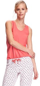 Old Navy Relaxed Orange Cotton Blend Top Coral/Orange