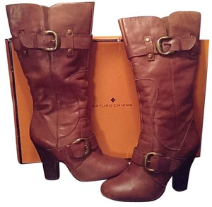 Arturo Chiang Boot Fall Leather Cognac Boots