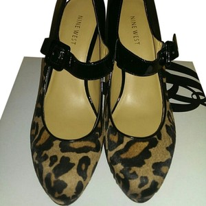 Nine West Cheetah Print Patent Gno Animal Print Platforms