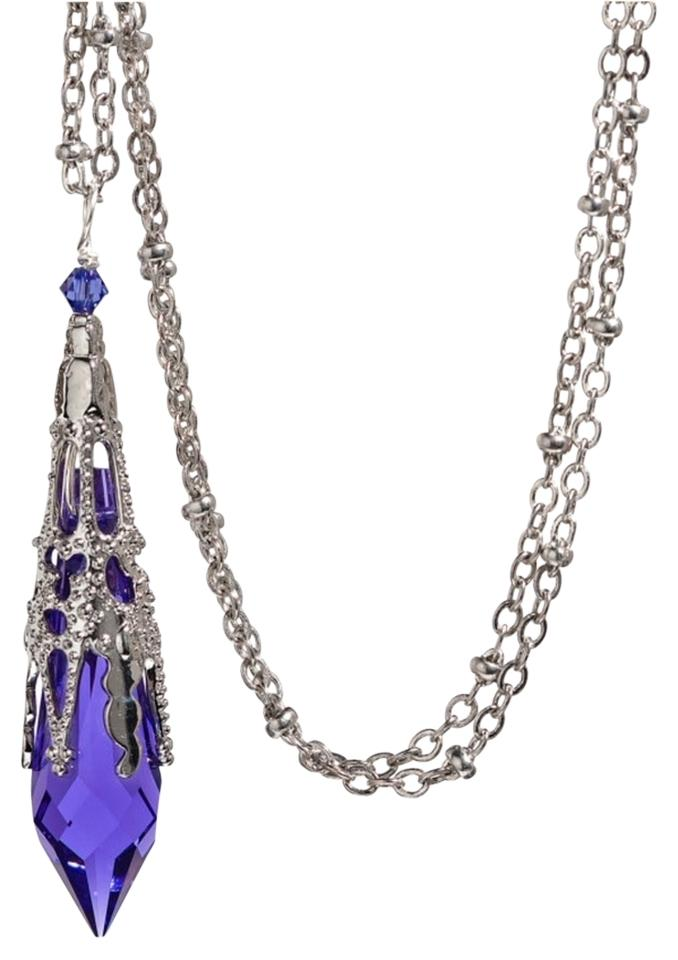 ad549dd91 Other Swarovski Purple Violet Crystal Icicle Pendant Necklace Image 0 ...