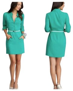 bebe Belted Silk Dress