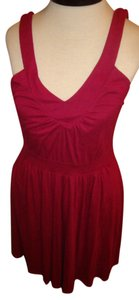 Old Navy short dress Raspberry V-neck Summer on Tradesy