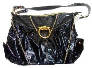 Baby Phat Studded Leather Club Cocktail Sexy Gold Shoulder Bag