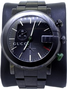 Gucci * G Chrono Black PVD Men's Watch