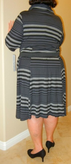 Robbie Bee Plus Size New With Tags Belted Knit Dress Image 1