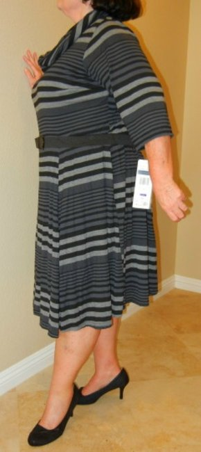 Robbie Bee Plus Size New With Tags Belted Knit Dress Image 3