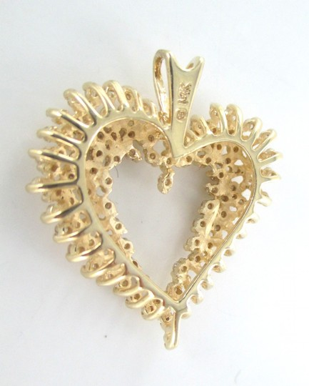 Other 14KT SOLID YELLOW GOLD 100 DIAMONDS 1.5 CARAT HEART