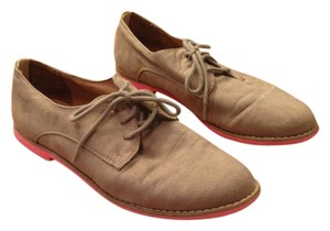 00a938f9e68a Mossimo Supply Co. Neon Sole Lace Up Faux Suede Taupe and Coral Flats