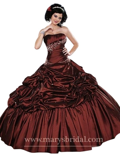 Mary 39 s bridal dark red multi 4q 807 p c mary 39 s princess for Pc mary s wedding dress