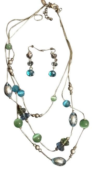 Item - Blue/Green/Silver Necklace