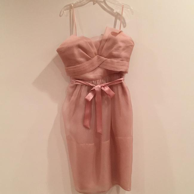 Item - Blush Silk Feminine Bridesmaid/Mob Dress Size 4 (S)