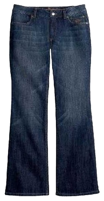 Harley Davidson Leg Opening *machine Washable *zip Fly 5 Pocket Style *cotton/spandex *low Rise Boot Cut Jeans-Medium Wash