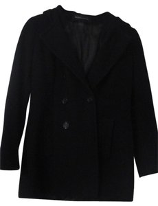 Moda International Hooded Wool Pea Coat