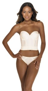 Dominique Dominique Backless Satin Longline Bra Ivory 34C