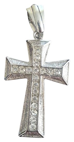Other Silver with cut crystal cross charm