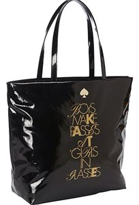 Kate Spade Tote in Black/Gold