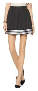 Piperlime Sporty Black Striped Skirt