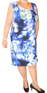Suzi Chin for Maggy Boutique Plus Size Ruffle Watercolor Dress