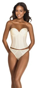 Dominique Dominique Satin Longline Bridal Bra 7750 Ivory Size 36B