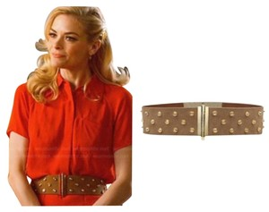 Tory Burch Theophile Suede Crystal Stud Belt