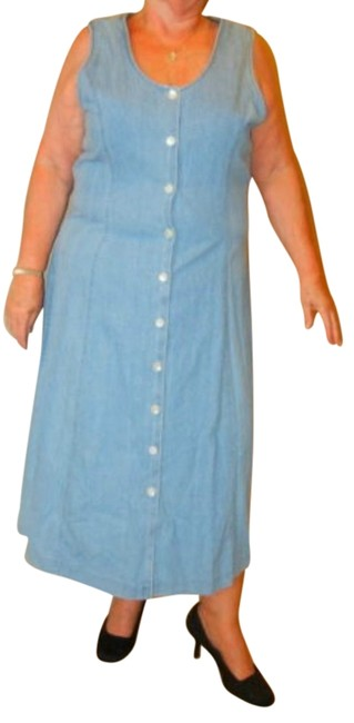 Preload https://item4.tradesy.com/images/talbots-blue-vintage-cotton-denim-button-front-jumper-long-workoffice-dress-size-20-plus-1x-1171313-0-0.jpg?width=400&height=650