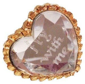 Betsey Johnson Betsey Johnson Original Crystal Heart Ring