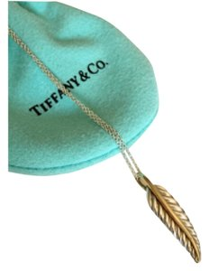 Tiffany & Co. 2003 Leaf 18k Gold & Silver Necklace