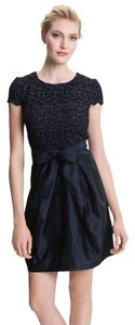 Suzi Chin for Maggy Boutique Taffeta Lace Cocktail Party Dress