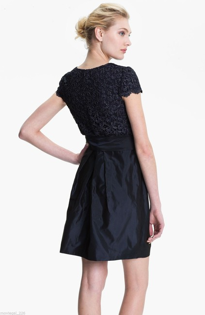 Suzi Chin for Maggy Boutique Taffeta Lace Cocktail Party Dress Image 1