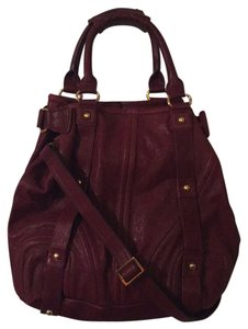 bebe Satchel in Deep Red