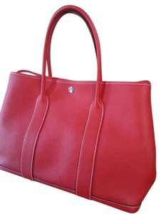 Hermes Gardenparty Everyday Tote in Red Rouge Casaque