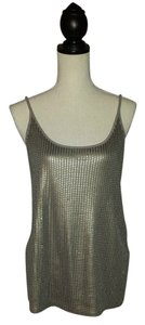 Vince Girlsnightout Sequin Top Silver