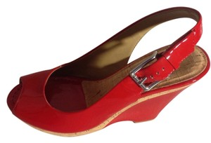 Donald J. Pliner Red Wedges