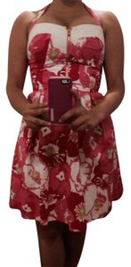 Lilly Pulitzer short dress Hotty Pink Cherry Begonias Summer Floral Print on Tradesy