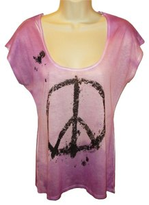 7 For All Mankind Hippie Hippy Burn Out Casual Top Purple