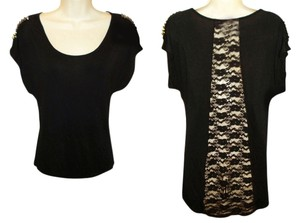 Macy's Gothic Edgy Top Black