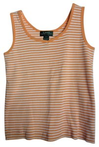 Ralph Lauren Top Orange and White Stripe