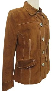 Bernardo Leather Rust Jacket
