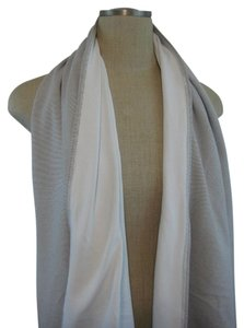 Lululemon Lululemon Wee Striped Med Grey White Reversible Vinyasa Scarf Soft Rulu