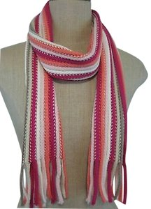 New York & Company York Co Ombre Long Fringe Scarf Colorful Stripes 58 X 7